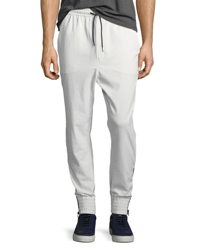 Zip & Elastic Cuff Pants