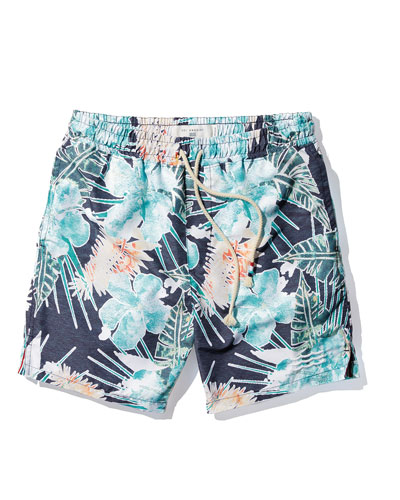 Off Tropic Palm Tree Swim Trunks