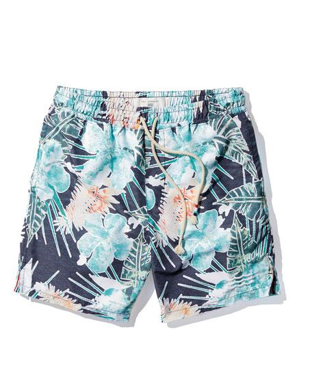 Off Tropic Palm Tree Swim Trunks