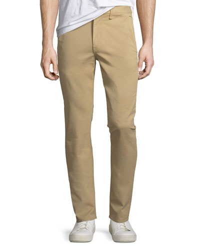 Standard Issue Fit 2 Mid-Rise Relaxed Slim-Fit Chino Pants, Beige