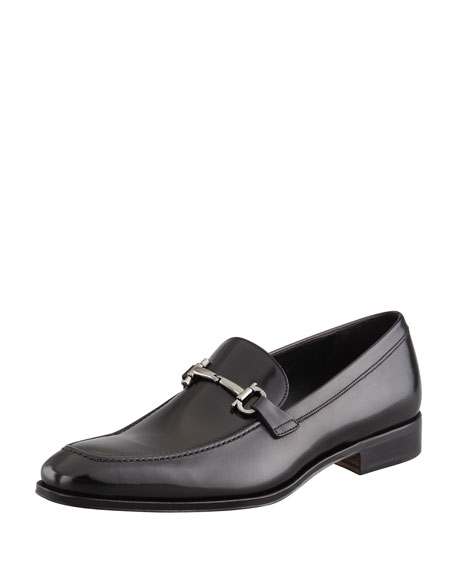 Salvatore Ferragamo Gancini-Bit Loafer Black