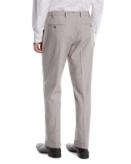 Micro-Jacquard Chino Pants