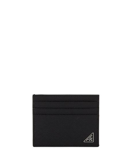 Prada Saffiano Triangolo Card Case