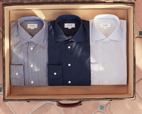 Slim Checked Cotton Dress Shirt