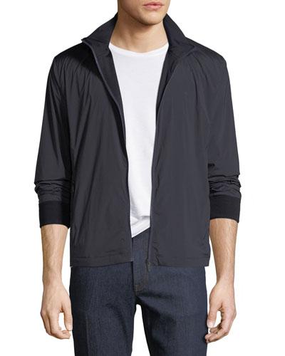 Reversible Zip-Front Blouson Jacket