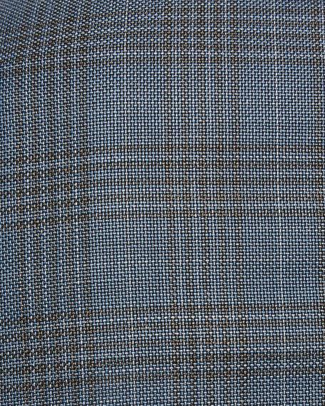 Janson Plaid Wool Sport Coat, Teal/Taupe