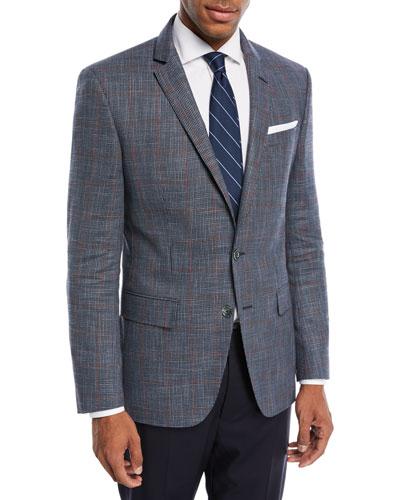 Hutson Windowpane Wool-Blend Sport Coat