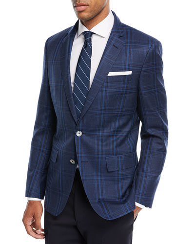 Multi-Pane Wool Sport Coat