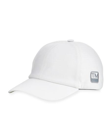 Z ZEGNA Embossed-Logo Baseball Cap in White