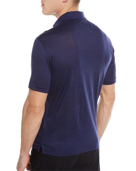 Wool-Linen Polo Shirt