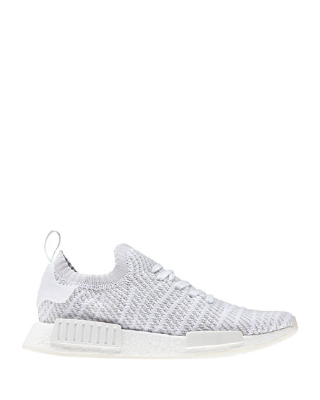 Men's NMD_R1 Primeknit Trainer Sneakers, White