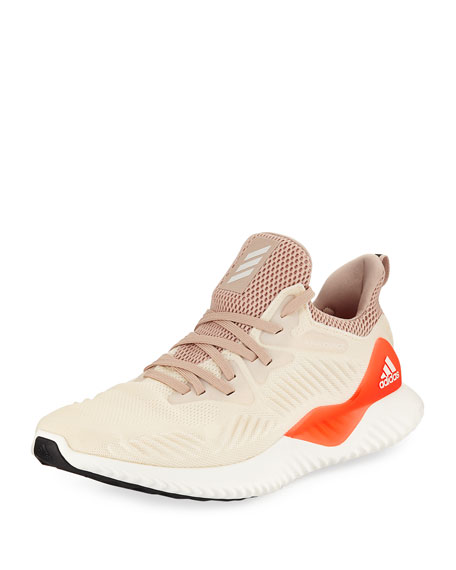 Adidas Alphabounce Engineered Mesh Sneaker, Beige