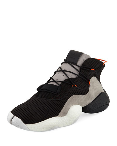 Crazy BYW Mixed Fabric Sneaker, Black