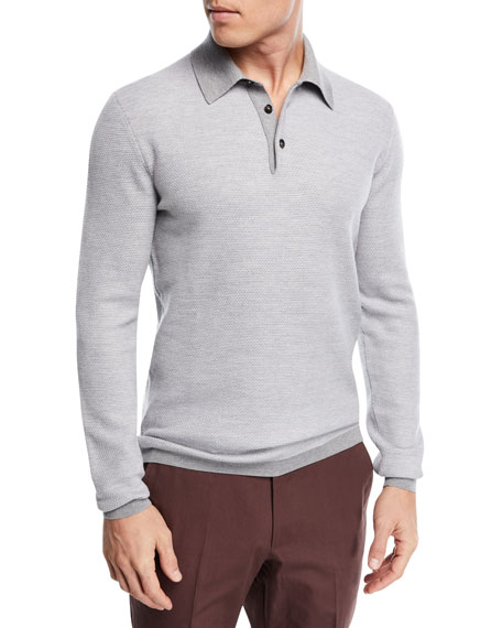 Ermenegildo Zegna Wool-Blend Polo Sweater