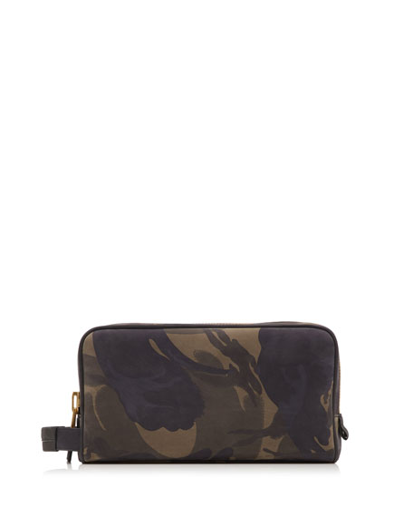 Camouflage Print Toiletry Bag by Tom Ford