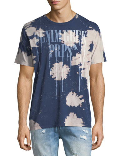 Tie Dye Denim Geek Tee, Navy