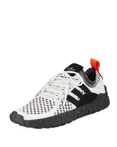 Men's F22 PK Stretch-Knit Sneakers, White