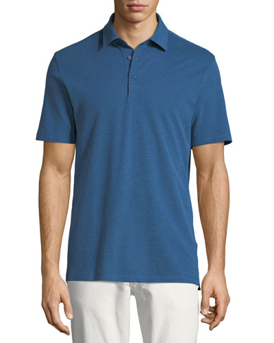 Cotton/Silk Jersey Polo Shirt