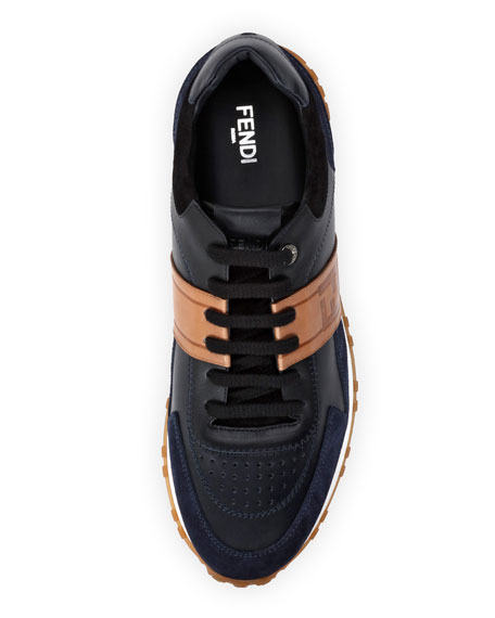 Logo Leather & Suede Training Sneaker