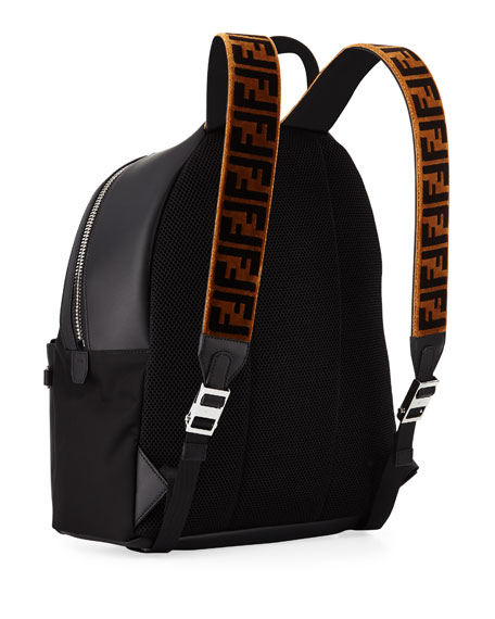 Men's Signature Zucca-Stripe Backpack
