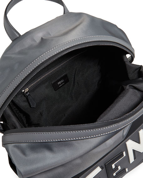 Vocabulary Men's Leather-Trim Backpack