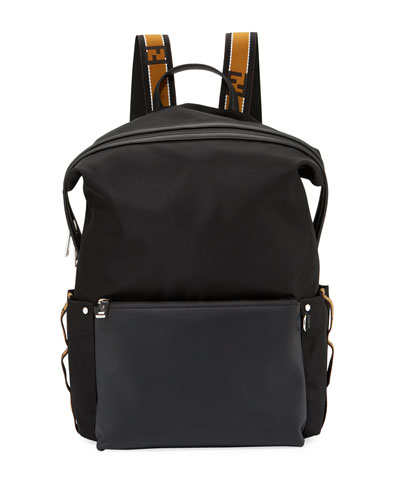 Forever Fendi Men's Striped Backpack
