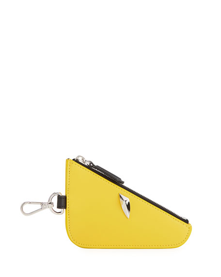 Fendi Monster Eye Zip-Top Coin Pouch/Bag Charm