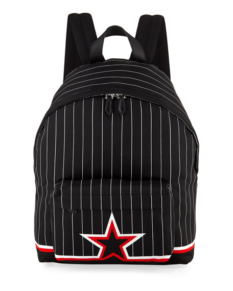 Givenchy Ico Prints Striped Backpack