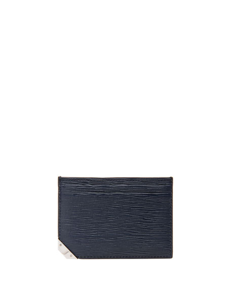 Bhar Leather Card Case, Blue