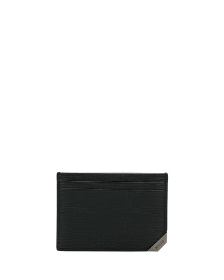 Bally Bhar Leather Card Case