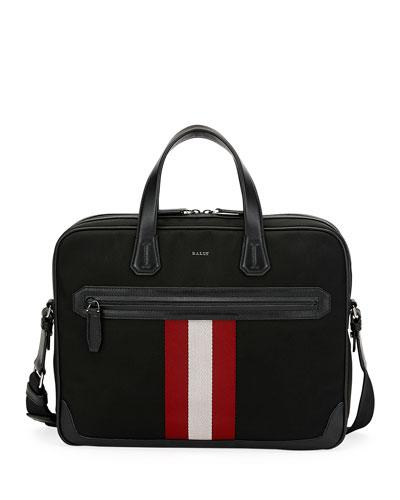 Chandos Leather-Trim Briefcase