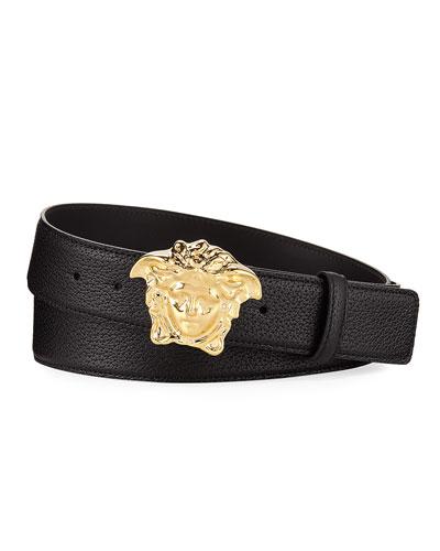 Palazzo Medusa Leather Belt