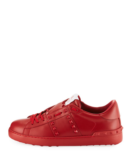 Rockstud Untitled Men's Leather Low-Top Sneakers