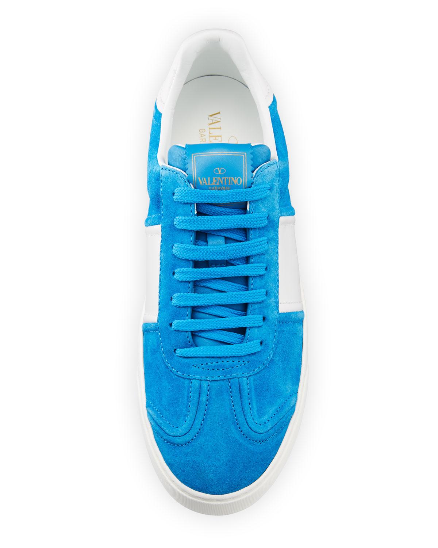 2d266980f4ec2 Valentino Garavani Men's Fly Crew Suede Low-Top Sneakers | Neiman Marcus