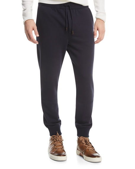 Ermenegildo Zegna Cotton-Blend Jogger Pants