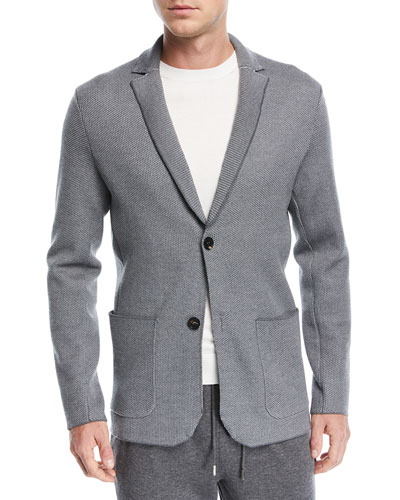 Textured-Knit Jersey Jacket