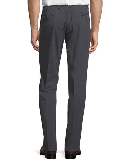 Tricot Cotton-Stretch Straight-Leg Pants