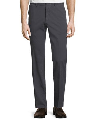 Tricot Cotton-Stretch Straight-Leg Pants