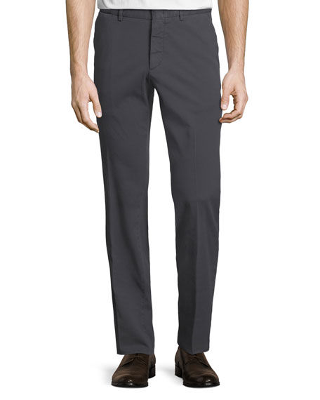Ermenegildo Zegna Tricot Cotton-Stretch Straight-Leg Pants