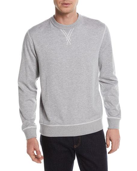 Ermenegildo Zegna Heathered Cotton/Cashmere Sweatshirt