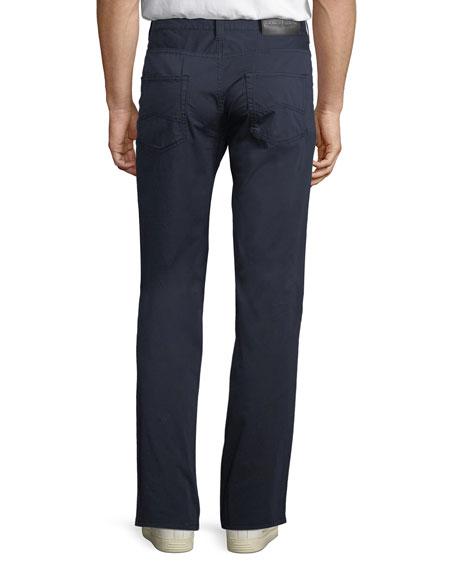 5-Pocket Slim-Leg Twill Pants