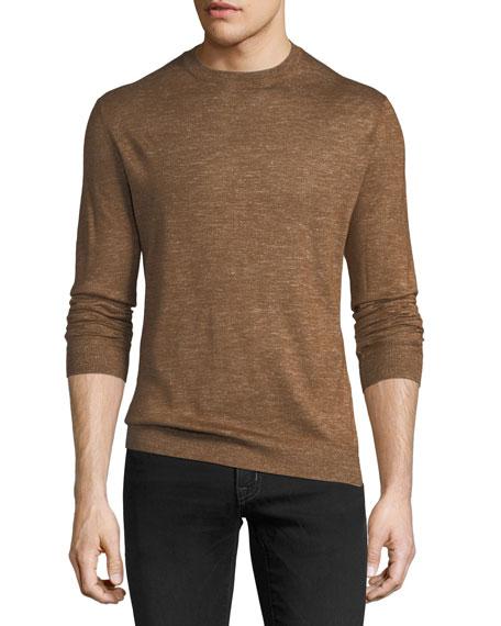 Cashmere-Blend Vicuna Crewneck Sweater