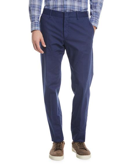 Tricot Twill Flat Front Pants by Ermenegildo Zegna