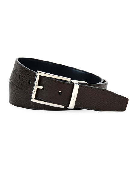 Astor Reversible Leather Belt, Brown