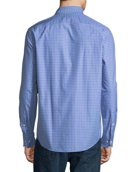 Check-Print Sport Shirt