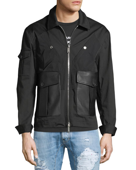 Stretch-Cotton Bomber Jacket