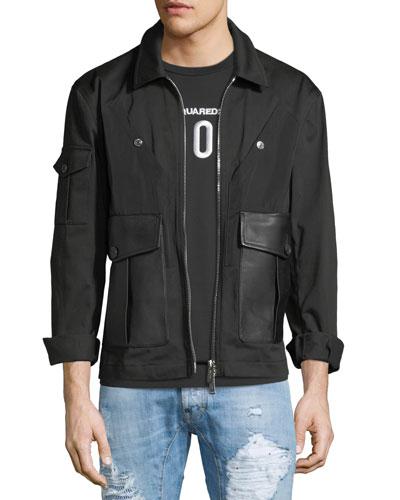 Stretch-Cotton Bomber Jacket