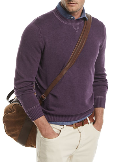 Brunello Cucinelli Crewneck Linen-Blend Sweater