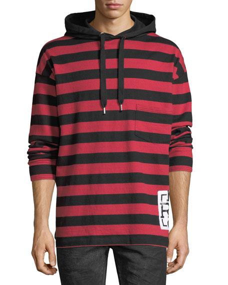Striped Rugby Hoodie
