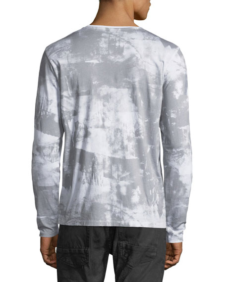 Cherub-Graphic Distressed Long-Sleeve T-Shirt
